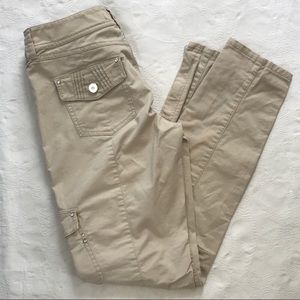 WHBM Slim Ankle Pants, Light Tan, Size 0 EUC